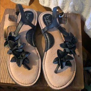 BOC sandals leather flowered